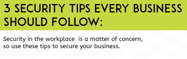 Security Tips Every Business Should Follow